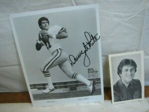 Pair Vintagew Signed Dallas Cowboys Autographed Photos Danny White Don Meredith