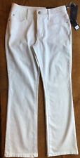 Not your Daughters Jeans NYDJ trousers USA size 4 p UK size 8 10 White bootcut