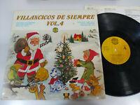 """Villancicos de Siempre Vol 4 Navidad 1984 - LP Vinilo 12"""" VG/G+"""