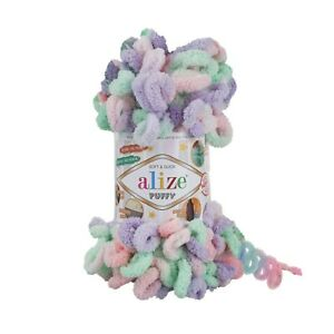 Alize Puffy Color 5 x 100g Balls Free P&P-Shade 5938