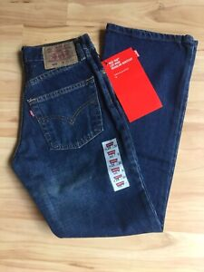 NWT Vintage Levi Strauss 558  Red Tab Button Fly Regular Boot Cut Jeans W25 L30