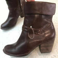 New Clarks Boots Size Uk 7.5 Brown Leather RRP £74.99 Cuban Heel Autumn Winter
