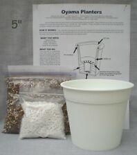 Oyama Planter Kit 5� White Self Watering Pot African violet free shipping
