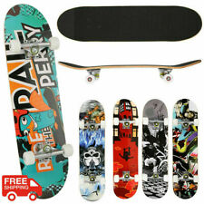 """Wood 31""""x8"""" Skateboards Complete Double Kick Deck Concave Gift for Kids Teens"""