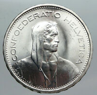 1966 B Switzerland Founding HERO WILLIAM TELL 5 Francs Silver Swiss Coin i90565