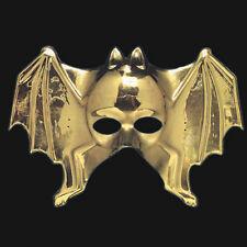 Golden Bat Face Mask Theatre Plastic Fancy Dress Masked Ball Theatre