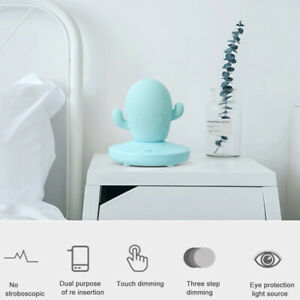 Cactus Touch Dimming USB Rechargeable LED Bedside Light Night Light