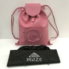 Maze Women's Drawstring Backpack Gym Bag Pink Swimming Fitness Casual 291053