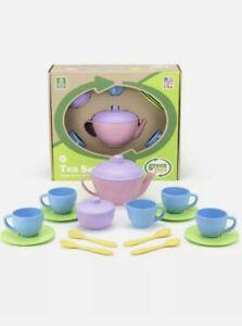 GREEN TOYS 100% RECYCLED PLASTIC TEA SET