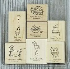 Stampin Up IT'S THE THOUGHT 7pc Set Cake Crab Owl Turtle Giraffe