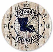 "10.5"" LOUISIANA STATE STAMP CLOCK - Large 10.5"" Wall Clock - Home Décor - 3279"