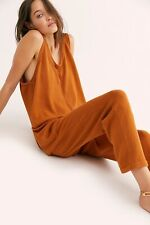 NEW FREE PEOPLE FP BEACH Sz M EVERSON SWEATER ONE PIECE JUMPER JUMPSUIT RUST