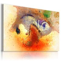 ABSTRACT ORANGE SPIRAL WAVES CANVAS WALL ART PICTURE  AB669  MATAGA