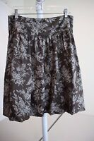 Calvin Klein 100% Silk Multi-Colored Floral Lined Pleated Full Skirt Size - 8
