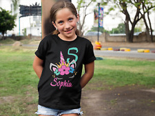 Personalized Unicorn Birthday Shirt for Girl - Unicorn Shirt - Unicorn Tee