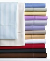 Striped Colors 1 PC Fitted Sheet Egyptian Cotton AU Super King Select Color
