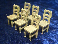 6 piece set of Chairs 1 Thomarillion Unpainted Metal Dwarven Forge D&D