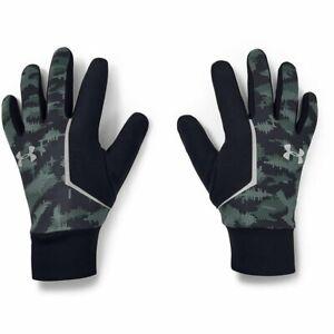 Under Armour Storm ColdGear Infrared UA Mens Run Liner Speedwipe Gloves Size XL