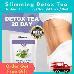 28 Day Organic Slimming Herbal Detox Green Tea Weight Loss Burner Fat Skinny