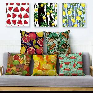 Cartoon Watercolor Fruit Print Cushion Cover Pillows Cases Sofa Decor Pillowcase