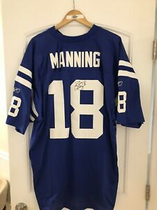 Peyton Manning autographed Indy Colts RBK jersey w/ COA