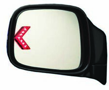 Universal Add a Turn Signal Stick-On Red LED to Rearview Mirrors for Cars-Trucks
