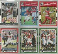 Atlanta Falcons 6 card 2016 Donruss insert & parallel lot-all different