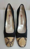 GIORGIO FABIANI Ladies Shoes Size 39 EUR Designer Woman Black Leather Made Italy