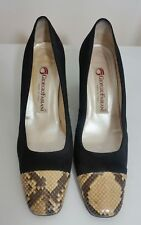 GIORGIO FABIANI Ladies Shoes Size 39 Designer Woman Black Leather Made in Italy