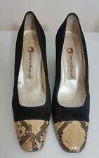 giorgio fabiani womens black leather size 6 39 animal print court pumps shoes