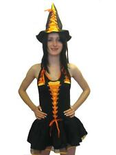Halloween Black Candy Witch Fancy Dress Costume 2 Pcs