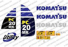 Komatsu PC20MR Digger Decalcomania Sticker Set
