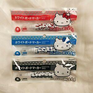JAPAN sanrio store Hello Kitty Whiteboard Marker pen Blue Black Red