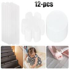 12Pc Anti-Slip Shower Stickers Non-Slip Bathtub Applique Mat Decal Safety Treads