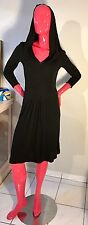 Escada Dress Hooded Black Classy,yet Rock-n-Roll Size: 34 EUC