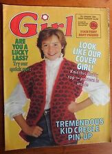 Girl magazine Vintage 7th January 1984 kid creole weetabix cereal add great