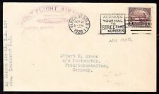 #571 ON LZ127 FIRST FLIGHT COVER USA TO GERMANY BT6475
