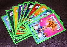 2011 GARBAGE PAIL KIDS FLASHBACK 2 GREEN ADAM BOMB MANIA SET 10/10 STICKER CARDS