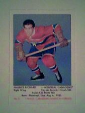 MAURICE RICHARD  '64-65 PARKHURST GREATS REPRINT INSERT CARD