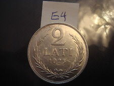 1925 Latvia 2 lats silver coin  old Latvian coin Ag (835°) 10 GRAMM