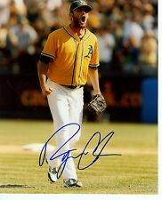RYAN  COOK    FIST  PUMPED  OAKLAND  A'S  SIGNED AUTOGRAPHED  8X10  PHOTO