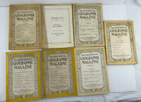 Lot Of 7 National Geographic Magazines 1920 1922 1924 1927 1937 Antique