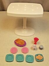 Barbie Doll Size Kitchen Table Dining Room Furniture Decor w/Kitchen Accessories