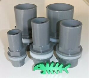 Bulk head tank connector UPVC fits pipe sizes 20, 25, 32, 40 and 50 mm