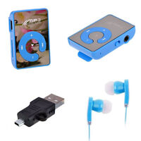 Mini Mirror Clip USB Digital Mp3 Music Player Support 8GB TF Card/ L8T5
