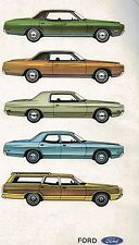 1971 Ford BIG CARS Brochure: LTD,GALAXIE,CUSTOM 500,Country Squire / Ranch Wagon