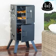 Stainless Steel ***BBQ Classics*** Vertical Charcoal Barbecue Smoker + 2 Grills