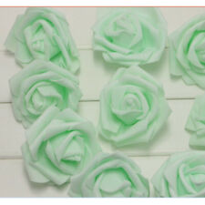 7cm Artificial Foam Roses Flowers With Stem Wedding Home Party Decor 50/100PCS