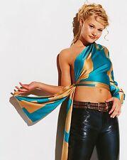 EMILIE DE RAVIN SEXY HOT BLUE TOP 8X10