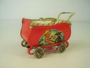 Antiker Puppenstuben Blech Kinder Wagen vor 1945